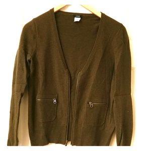 [J. Crew] Cashmere/Wool blend cardigan